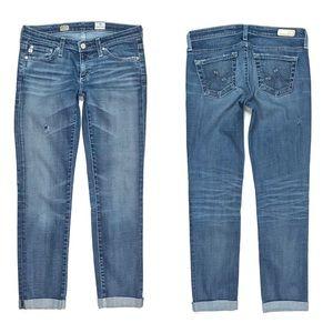 {AG} Stilt Cigarette Roll Up Jeans